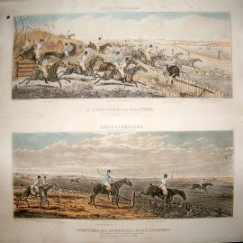 Aft. John Dean Paul 1825 LG Folio Aquatints. Leicestershire Foxhunting 2 Prints